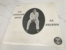 """Sealed AL JOLSON """"An Evening With"""" Limited Edition (#474) Asa LP#1 Import"""