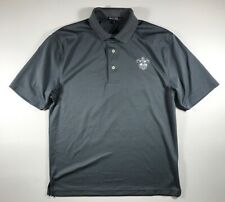 Gray Port Authority New Orleans Zephyrs Polo Shirt Size Medium