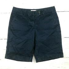 Vineyard Vines womens 6 navy blue flat front khaki chino Bermuda shorts