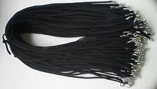 """Hot Wholesale Bulk lot 10pcs black Suede Leather String 20"""" Necklace Cords"""