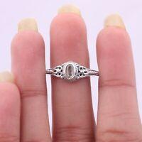 Rose Quartz Gemstone Ring Size 7 925 Solid Sterling Silver Handmade Jewelry