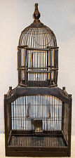 LARGE Antique Ornate Victorian Wooden Bird Cage EXCELLENT CONDITION