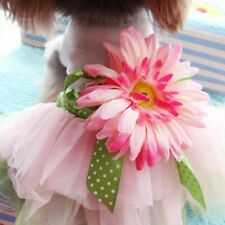 NEW Pet Pink Sunflower Tulle Tutu Dress for Small Dogs SIZE S