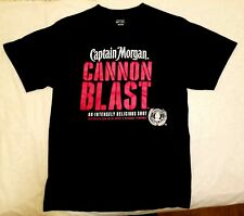 Captain Morgan Cannon Blast Tee Shirt Medium Black Medium Weight Short Sleeve