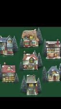 "Dept 56 Dickens Village ""The Original Shops Of Dickens' Village"" 1984- Set of 7"