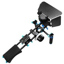 Professional DSLR Stabilizing Dual Hand Grip Shoulder Pad Support Mount Rig