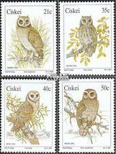 Zuid-Afrika - Ciskei 183-186 (compleet.Kwestie.) First Day Cover 1991 Uilen