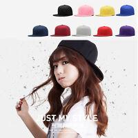Unisex Women Men Blank Baseball Cap Plain Boy Snapback Hats Hip-Hop Adjustable