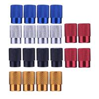 4pcs Car Bicycle Tire Valve Caps Dust Covers for Schrader Valve Stems Screw Cap