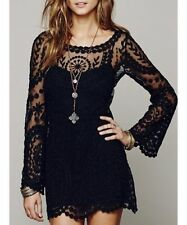 Unbranded Lace Collar Long Sleeve Dresses for Women