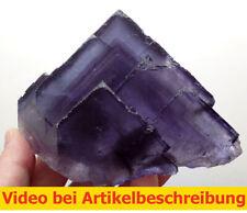 7505 Fluorit blau  ca 14*12*8 cm Denton Mine USA Illinois Cave in Rock MOVIE