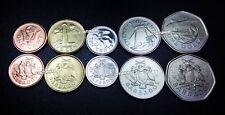 BARBADOS UNC SET OF 5 COINS 1 5 10 25 CENTS 1 DOLLAR 2008-2011