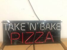"""""""Take and Bake"""" Pizza Sign-Neon Gas-  38"""" x 16"""""""