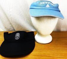 LOT OF 2 SAILING SHIP VISOR HAT CAP BLUE NEWPORT COLONIAL 1696 OSFM IMPERIAL EUC