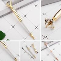 Metallic Crystal Pen Big Diamond Ballpoint Pen Stationery Office School Pens New