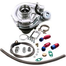 T3 T4 TO4E Turbo Turbocharger Kit + Oil Drain Return + Oil FEED Line Kit TCD