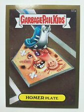Garbage Pail Kids 2015 Topps Sticker 57a Homer Plate Gold Boarder