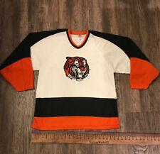 VTG WHL World Hockey MEDICINE HAT TIGERS JERSEY Adult Medium Rare CCM 1970s-80s