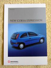Vauxhall Corsa C Expression Brochure, 2001 Models 1.0-12v
