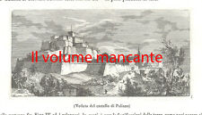 Veduta del Castello di Paliano incisione su rame tratta da l'Album 1841