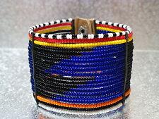 traditional blue masai wrist band bracelet Kenya African