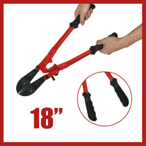 18 INCH HEAVY DUTY CARBON STEEL CABLE WIRE BOLT CUTTER CROPPER TOOL FORGED BLADE