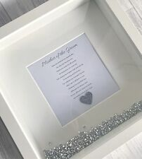 Mother Father Of The Bride Groom Wedding Personalised Poem Gift Thank You Frame