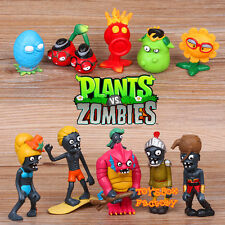 10x Plants vs Zombies PVZ Cute Figure Figurines Doll Kid Toy Game Cake Toppers