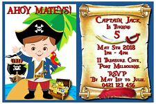 Personalised Pirate Birthday Party Invitations - You Print