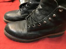 """Chippewa Men's 6"""" Boots Vibram Sole Made In USA! Black Leather - Size 9.5"""
