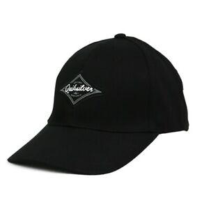 QUIKSILVER DIAMOND WAVE DECADES SNAPBACK MENS CAP BLACK  EQYHA03252 KVJ0
