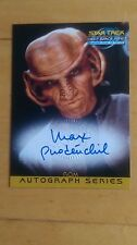 Rare 1999 Star Trek DS9 Rom Max Grodenchik A17 Autograph Card Nm/Mint