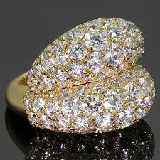 Magnificient VAN CLEEF & ARPELS Double Boule Diamond 18k Yellow Gold Ring