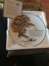 5th Avon Anniversary Plate - The Great Oak - 22k Gold Trimmed - In Box - 1993
