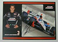 2010 HELIO CASTRONEVES SIGNED AUTOGRAPHED IRL PHOTO CARD & COA INDY 500 RACING