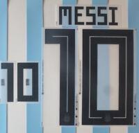 Set Flock Nameset home Trikot jersey shirt Argentinien Argentina 2018
