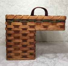 Handwoven Amish Stair Basket Farmhouse Rustic Country Beach Staircase Porch