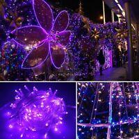 10M 100 LED 220V lila Weihnachten Lichterkette Lampe Außen Innen Beleuchtung EU