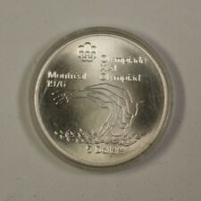 1975 Canada RCM 5 Dollar Silver 1976 Montreal Olympic Games Diving Silver Coin