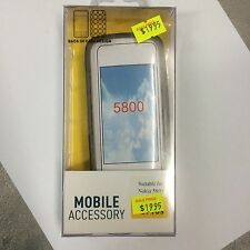 Nokia 5800 TPU Jelly Case Cover in Smoke JCNOK5800SM. Brand New in Original pack