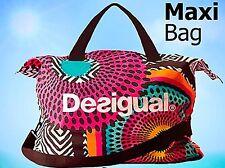 Desigual Womens Designer large Gym Travel shopping Beach  Tote Handbag  BAG