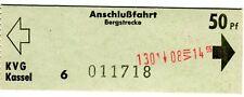 Biglietti KVG Kassel anschlußfahrt Berg tratto 50 Pfennig ki2055