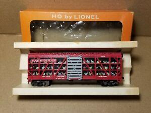 Vintage Lionel Postwar HO Scale #0834-1 Red Poultry Dispatch Car