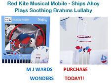 Red Kite Musicale Mobile-Navi Ahoy-Suona Brahms Ninna Nanna rilassante