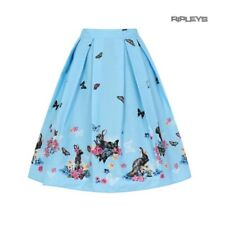 Hell Bunny Spring Easter 50s Pin Up Skirt COTTON TAIL Blue Rabbits All Sizes