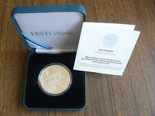 Estonia 2018 Pyeongchang Olympic Games Silver Coin 10 Euro Proof in Box w Cert