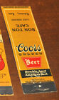 30s Wakeeney KS Coors BEER Advertising Matchbook Bon Ton Cafe Alex Niedenes NICE