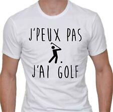 T-shirt homme détente. J'peux pas j'ai golf.