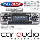 Classic Retro BLUETOOTH CD MP3 USB AUX Car Stereo Radio Player SILVER RCD120BT