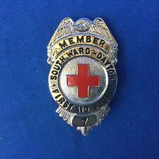 South Ward Dayton First Aid Squad (Newark, NJ) Member # 7 Hat Badge And ID Card